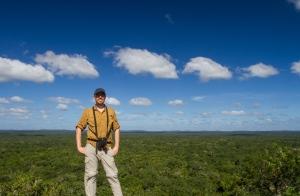 Josh on top of the pyramid at Calakmul
