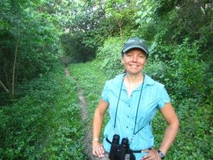 Kathi birding the trails at Rancho Primavera