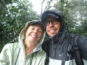 Birding in the rain in Tlanchinol