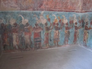 Paintings inside Bonampak