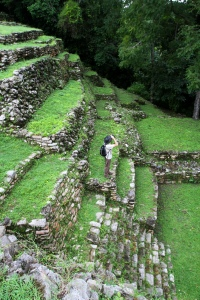 Greg birding at Yaxchilan