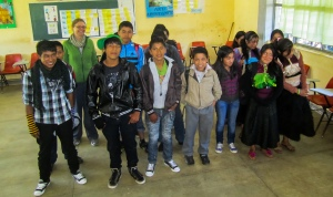 Students from Romerillo Secondary School