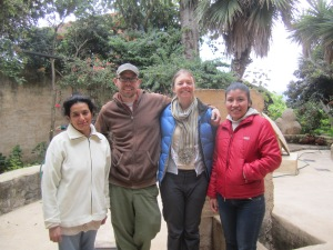 Flor, Josh, Kathi, and Reyna at Instituto Jovel