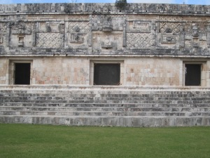 Detailed stone work at Uxmal
