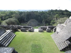 Caracol; view from temple Caana