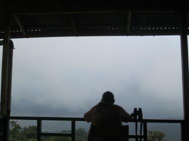 Waiting out the rain at San Gerardo
