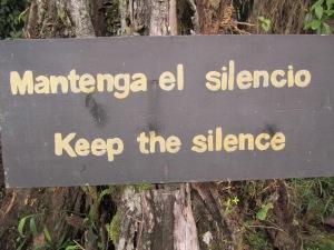 Keep the silence