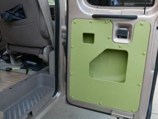 Custom door with pockets