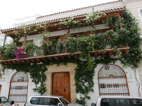 Balconies full of bougainvilleas line the streets around Cartagena