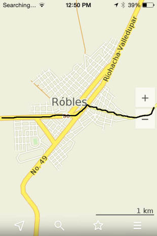 Coming into La Paz/Robles from Valledupar and heading towards Manaure