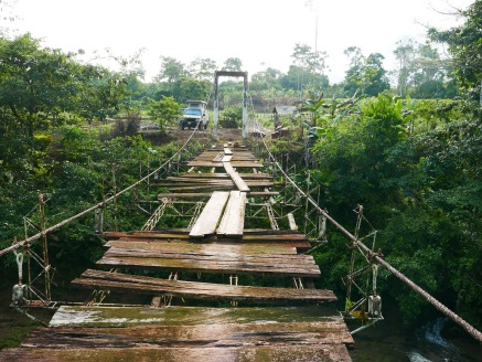 The dilapidated bridge that accesses the reserve (for now)