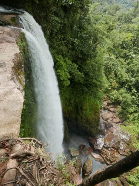 Fin del Mundo Waterfall ~ 230 ft down
