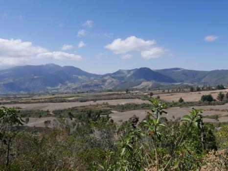 The dry Andean valleys near Cotacachi, Ecuador